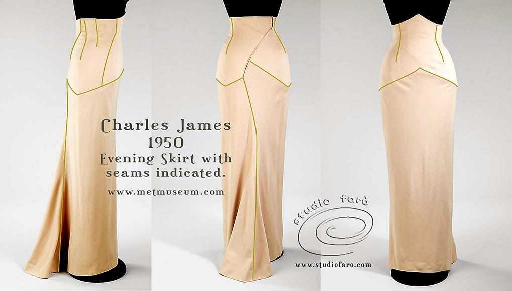 well-suited: Pattern Puzzle - Homage to Charles James 1950 | Sew ...