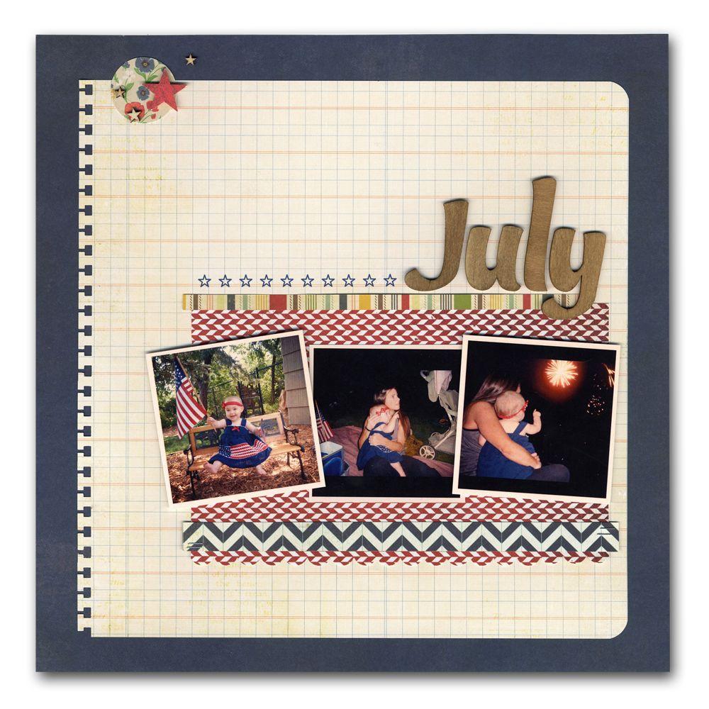 Designer Favorites Kit - Volume 3: Baby 4th of July Layout