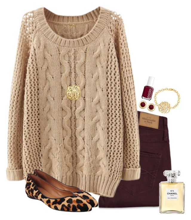 """""""Going home"""" by anna-watson00 ❤ liked on Polyvore featuring Abercrombie & Fitch, French Sole FS/NY, House of Harlow 1960, Essie and Chanel"""