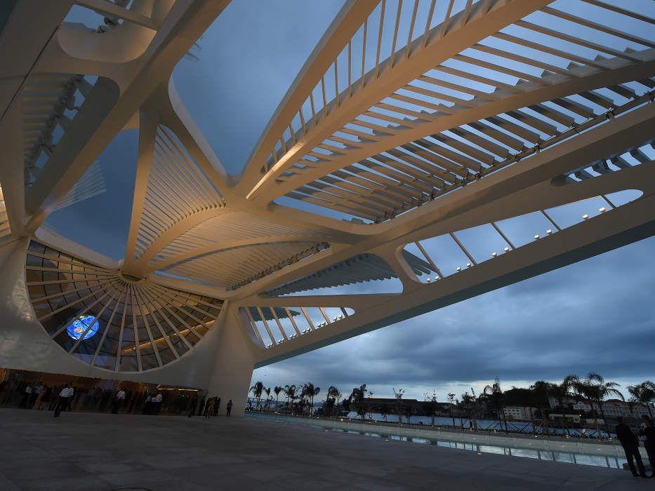 O Museu do Amanhã com projeto ousado do arquiteto espanhol Santiago Calatrava