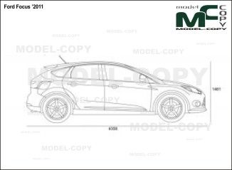 Ford Focus 2011 2d Drawing Blueprints Con Immagini Bmw