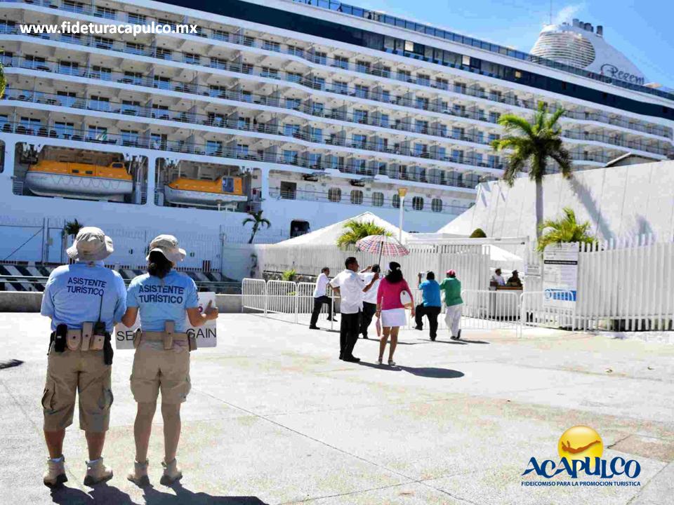 #infoacapulco El arribo del crucero Magellan al puerto de Acapulco. INFO ACAPULCO. El crucero Magellan, proveniente de la isla de Aruba en el Caribe, arribó al puerto de Acapulco el pasado 27 de enero con una tripulación de más de mil 300 pasajeros, los cuales fueron recibidos con danzas y dulces típicos de la región. Te invitamos a visitar la página oficial de Fidetur Acapulco, para obtener más información.