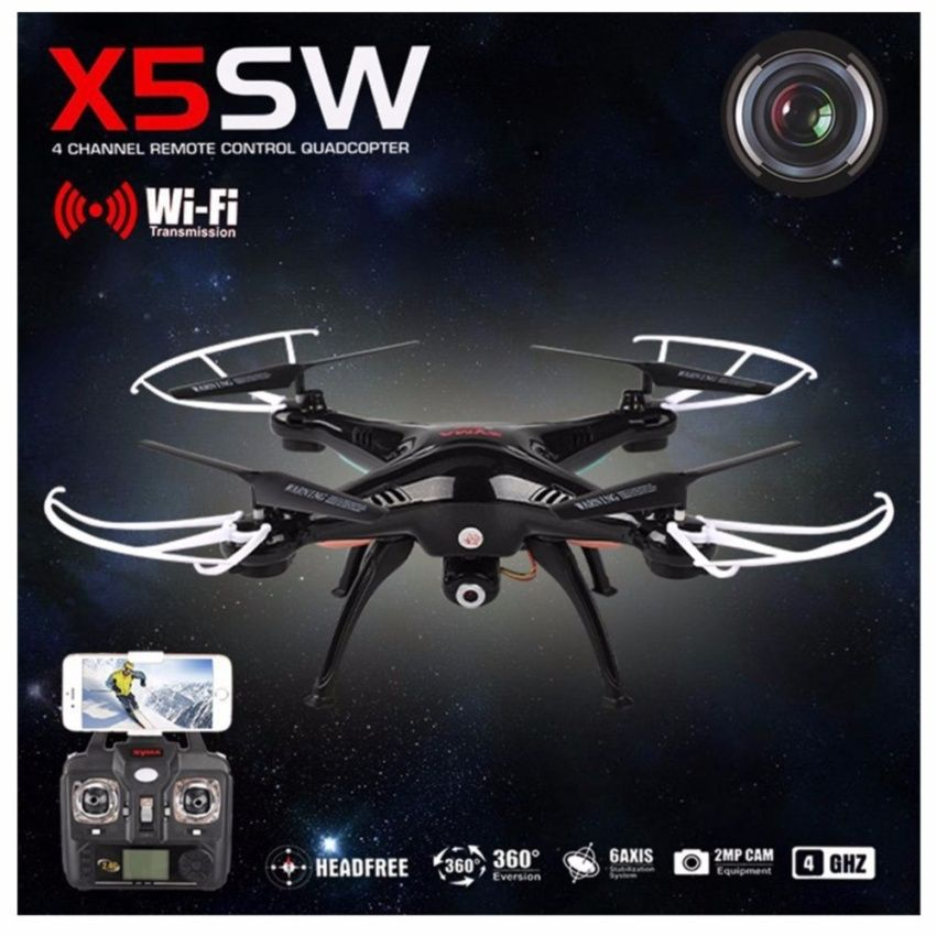 Image result for Drone Syma FPV Wifi Drone Quadcopter รุ่น X5SW โดรนติดกล้อง ส่งภาพเข้ามือถือ บันทึกภาพได้ (สีขาวหรือสีดำ)