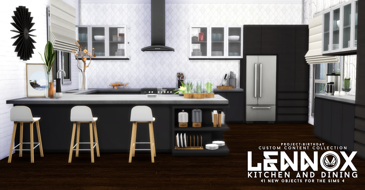 Lennox kitchen dining i by peacemaker ic via tumblr i for Kitchen ideas sims 4