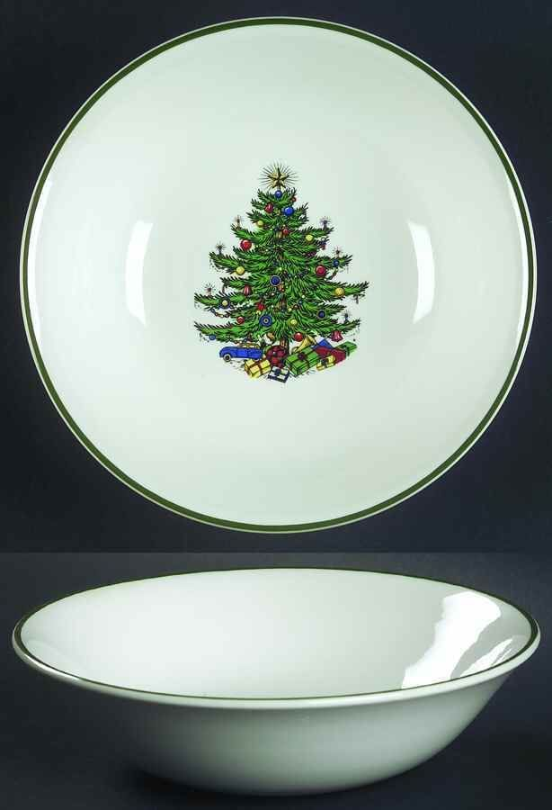 Cuthbertson CHRISTMAS TREE Thin Green Band Cereal Bowl #Cuthbertson
