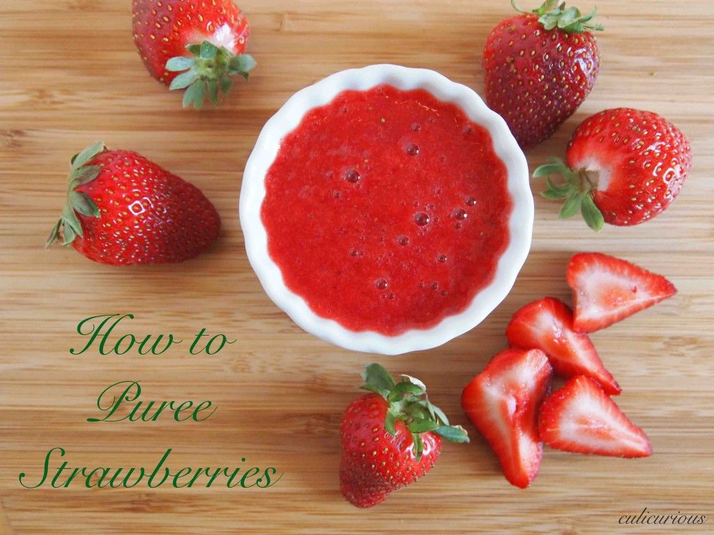 How to puree strawberries a step by step photo and text