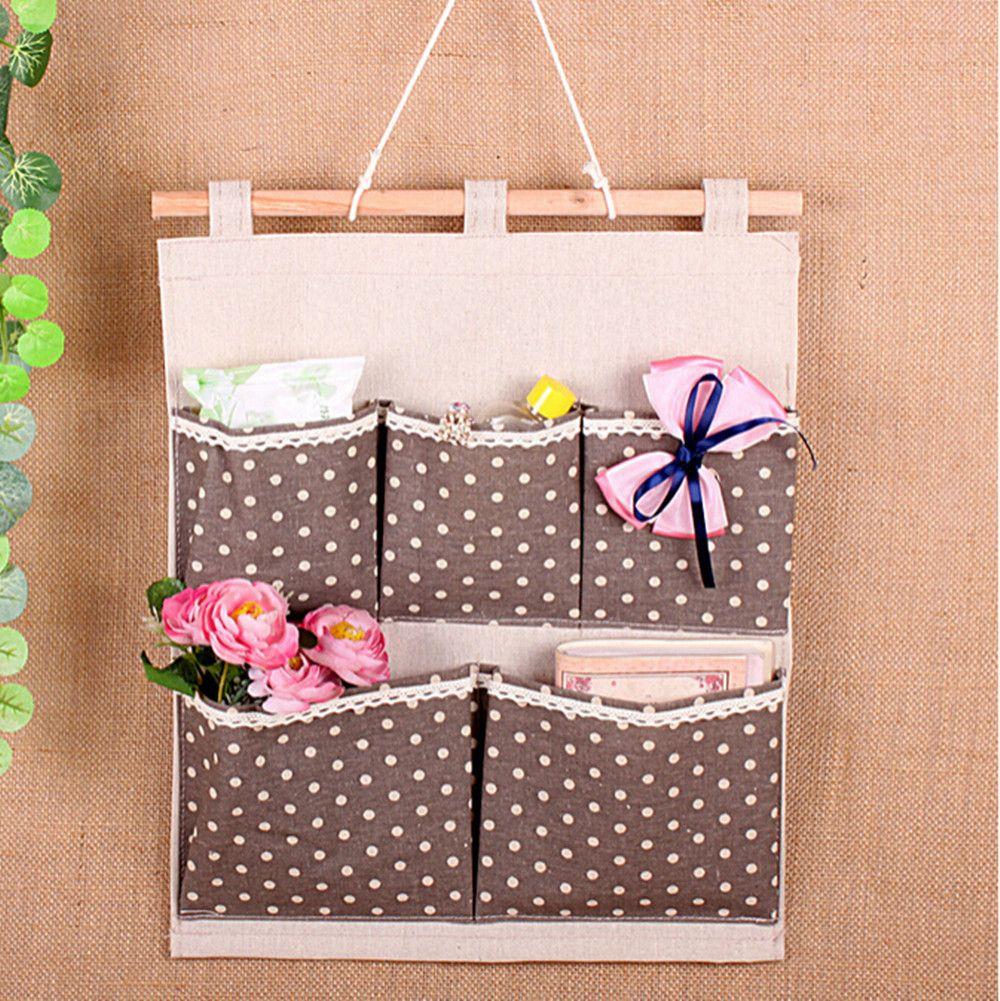 cheap bolsillos de la puerta del armario de pared hanging organizador bolsos del almacenaje del