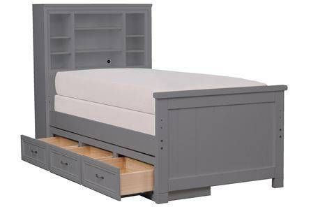 Shop Twin Beds Twin Bed Size Frame Bookcase Bed Twin Storage