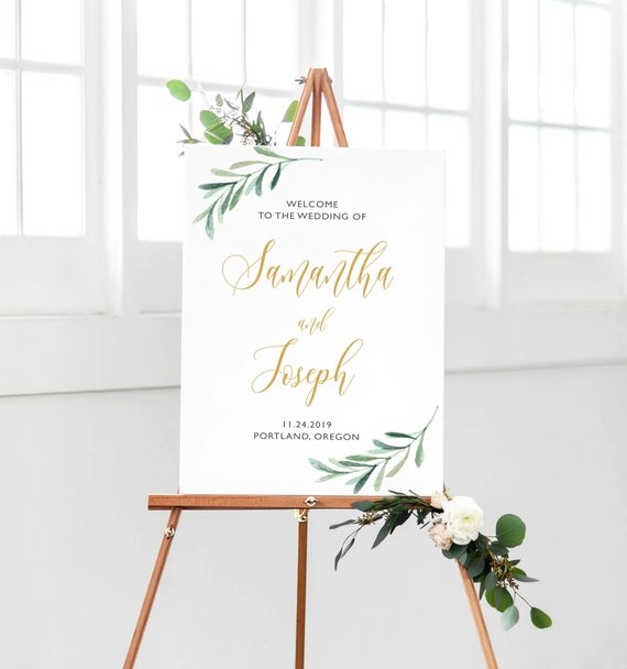 graphic regarding Welcome Sign Template known as Marriage Welcome Indication Template, Printable Wedding ceremony Indication