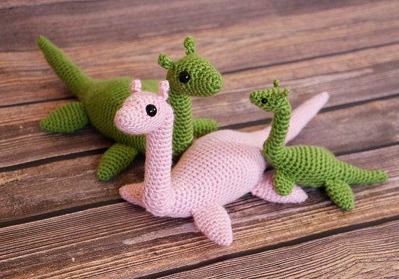 Amigurumi Loch Ness Monster Nessie Doll Plesiosaur by dsgnGrl