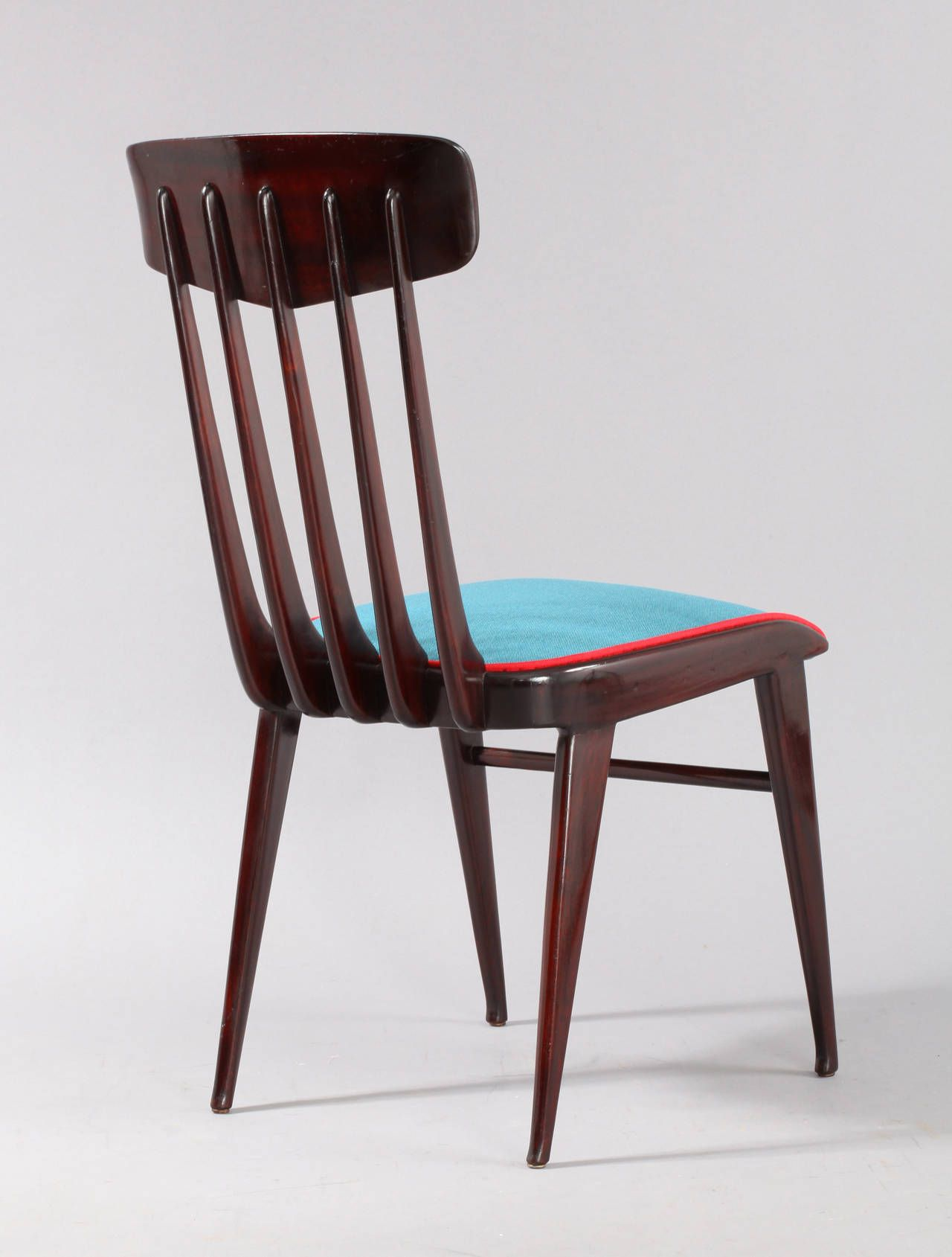 Charming Six Dining Chairs Attributed To Gio Ponti, Italy, 1950