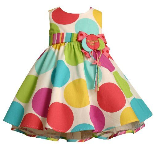 Bonnie Baby Large Dots Birthday Dress with Headband