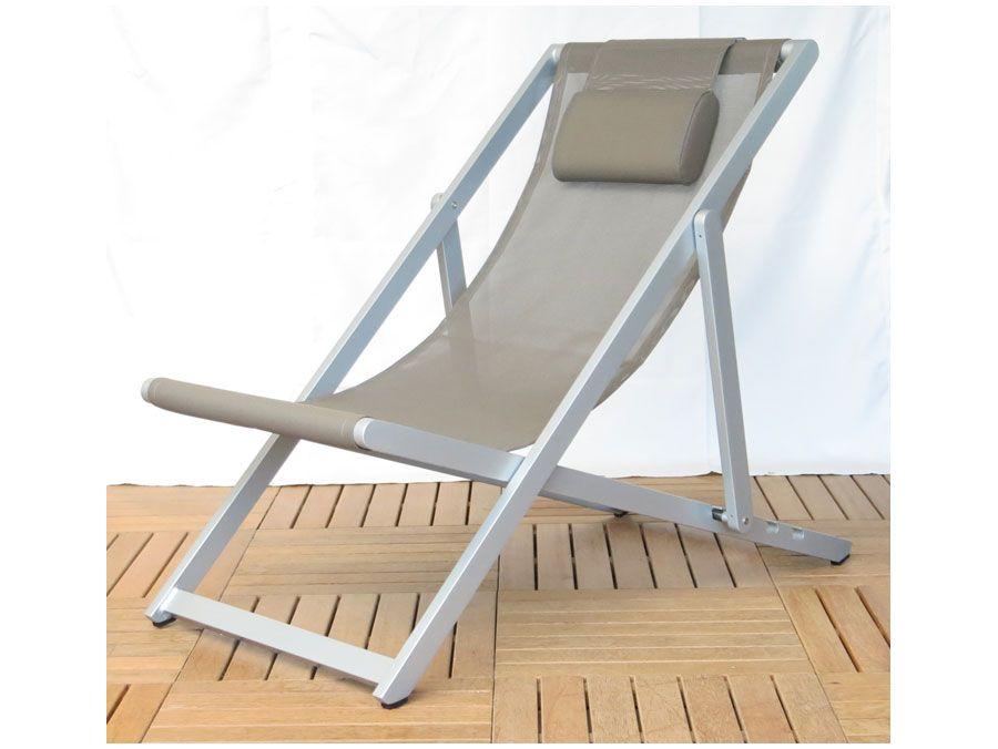 Alu Liegestuhl.Exotan Aluminium Beach Chair Liegestuhl Creme