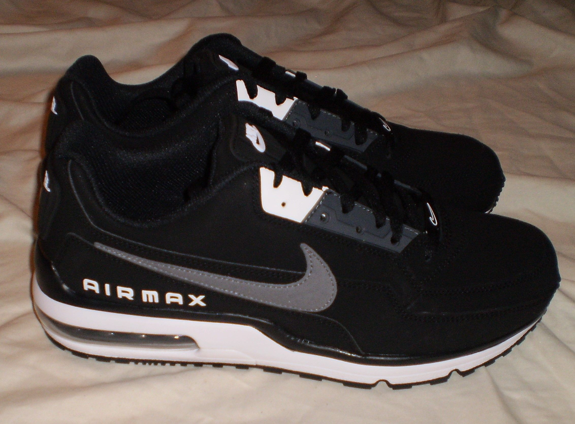 best website bbfc0 fcaf1 MENS NIKE AIR MAX LTD 3 SNEAKERS SHOES BLACK DARK GREY-WHITE SIZE 10