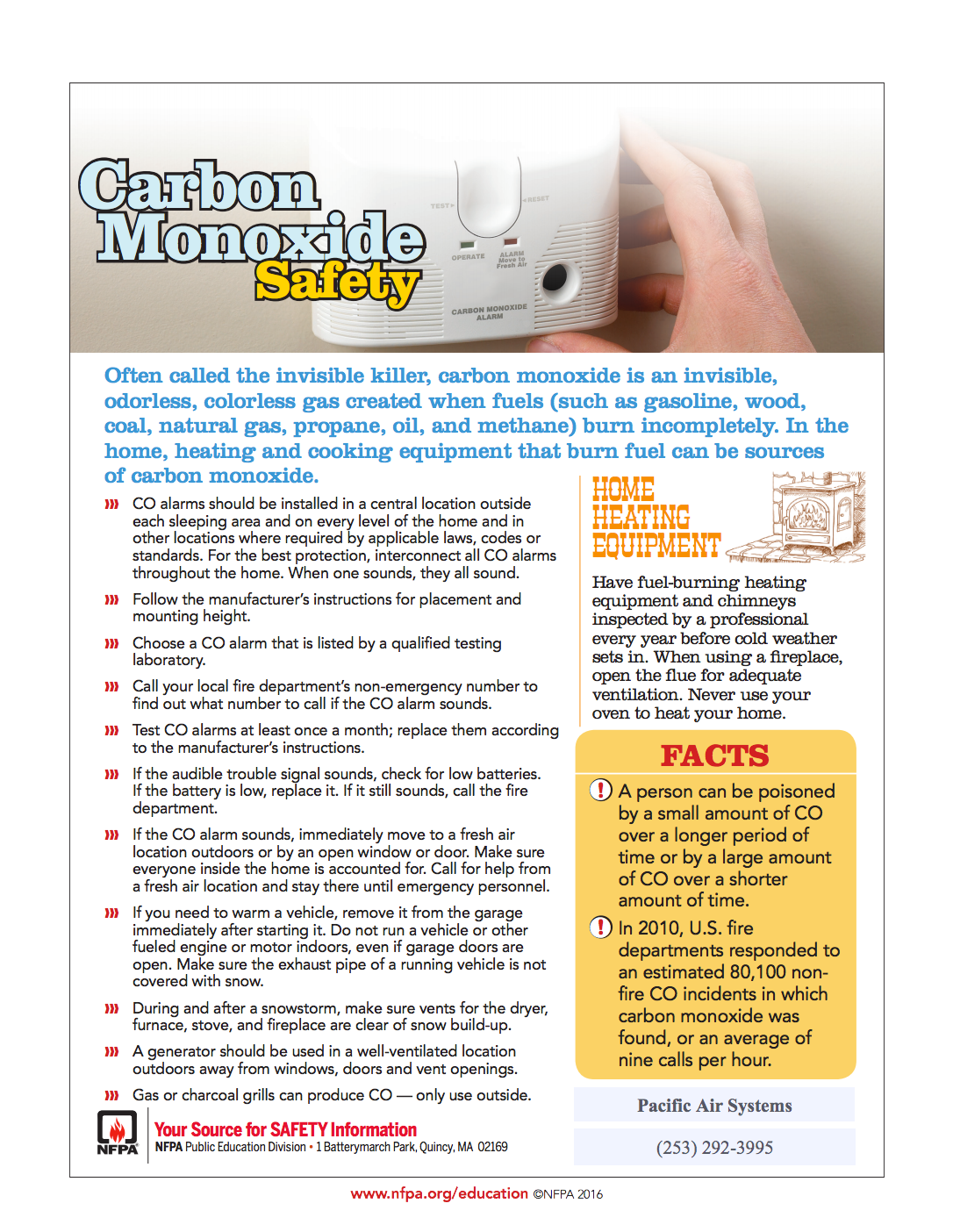 Home Pacific Heating and Cooling Carbon monoxide