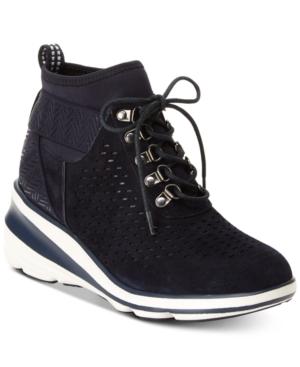 Jambu Offbeat Encore Sneaker Wedges Blue 8M | Wedge sneakers