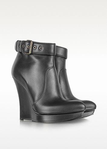 McQ Alexander McQueen Black Biker Slim Wedge Boot  752.00 Actual ... 5274b7ebeb2