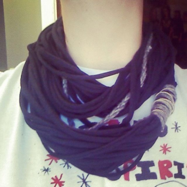 My other new t-shirt scarf!