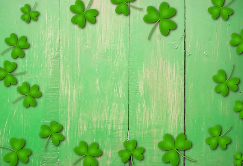 Photo of St. Patrick's Day Green Wood Floor Backdrop for Photo Shoot SH190