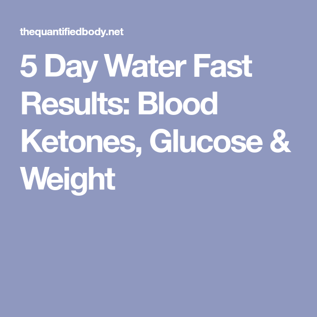 5 Day Water Fast Results Blood Ketones Glucose Weight