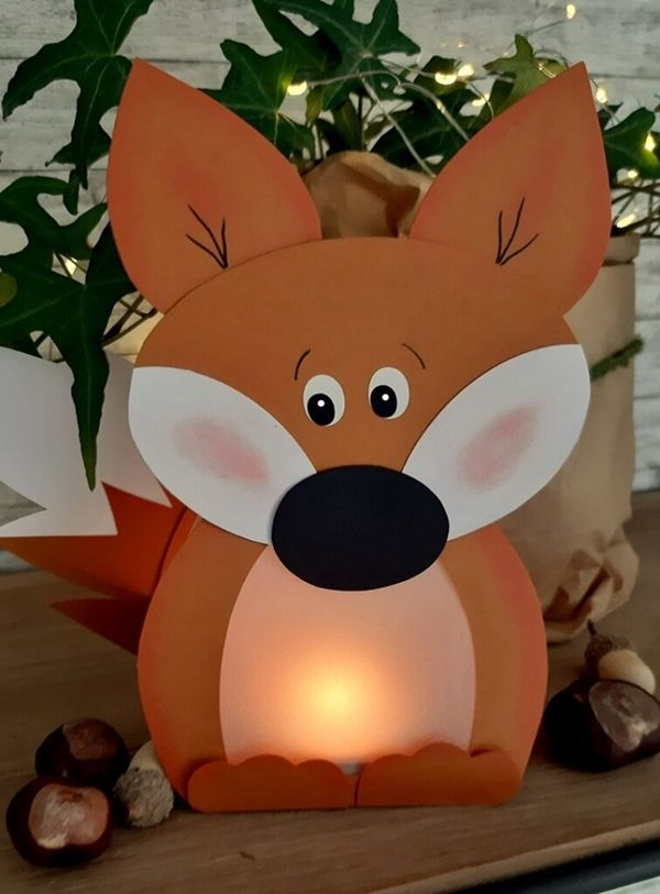 Glowing forest animals  An idea from the blog of the colored paper world  Glowing forest animals  An idea from the blog of the colored paper world