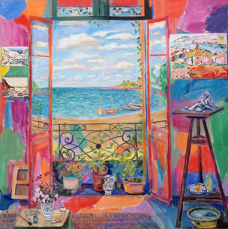 Matisse s studio collioure second window damian elwes for Matisse fenetre a tahiti