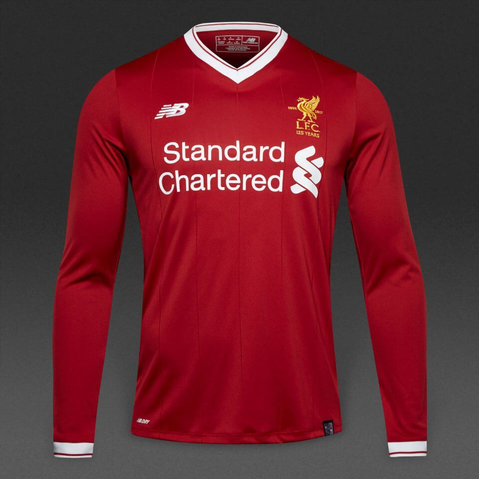 970884068bb Liverpool 17 18 Home Men Long Sleeve Soccer Jersey Personalized Name and  Number