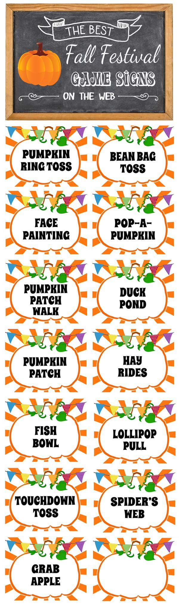 fall festival signs free printable signs download. Black Bedroom Furniture Sets. Home Design Ideas