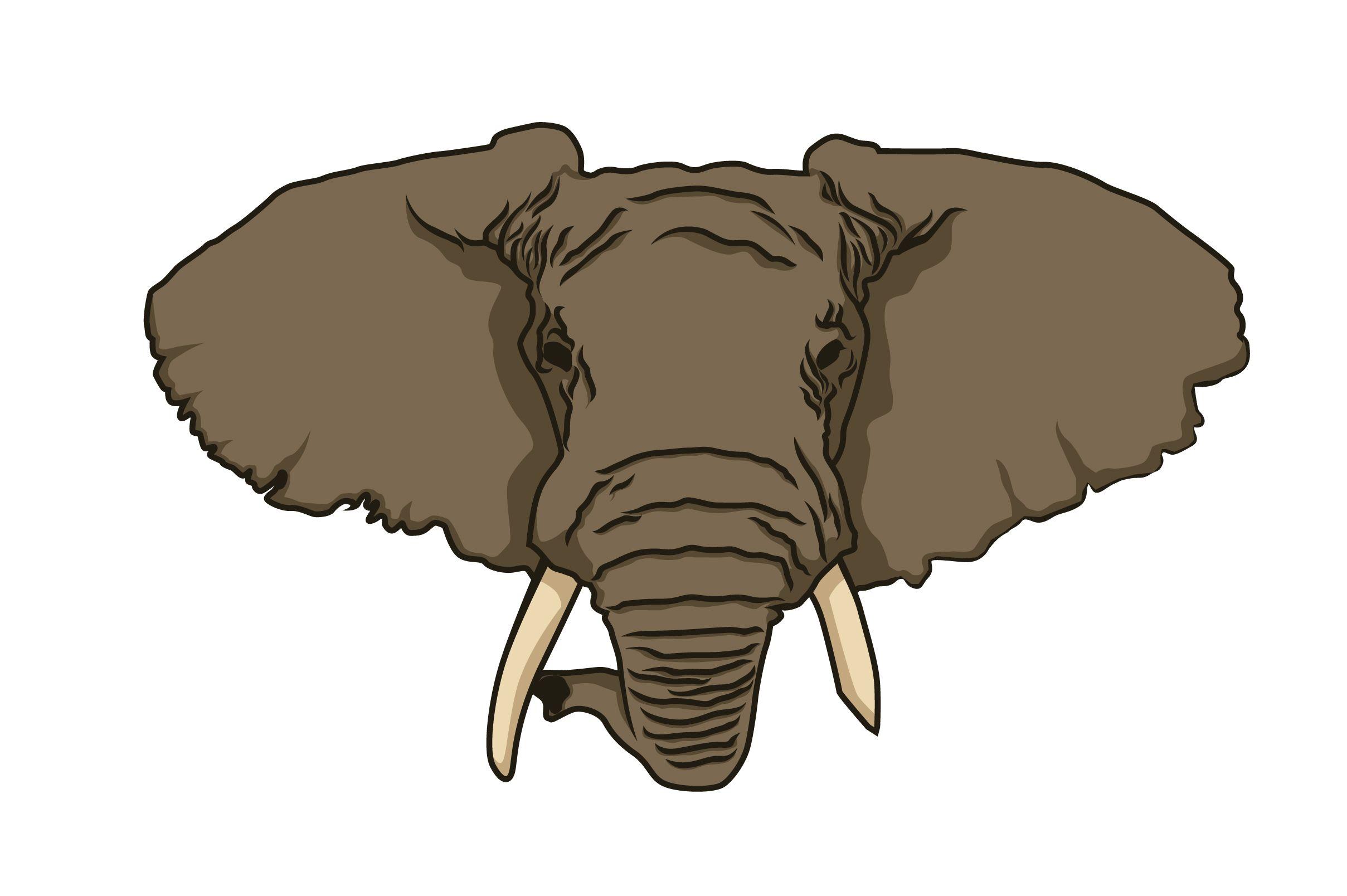 Elephant Head Vector Graphic By Pointzero Graphic Creative Fabrica Elefantenkopf
