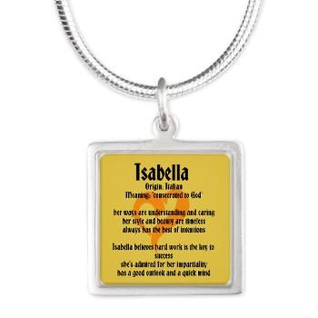 Isabella Name Meaning Design Necklaces> Name Meanings ...