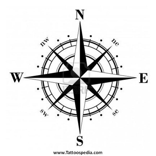 Notitle Tattoos Notitle Tattoos Kompass Tattoo 2