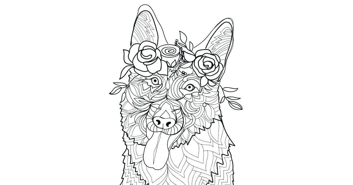 German Shepherd Coloring Pages Beautiful Shepherd Coloring Page