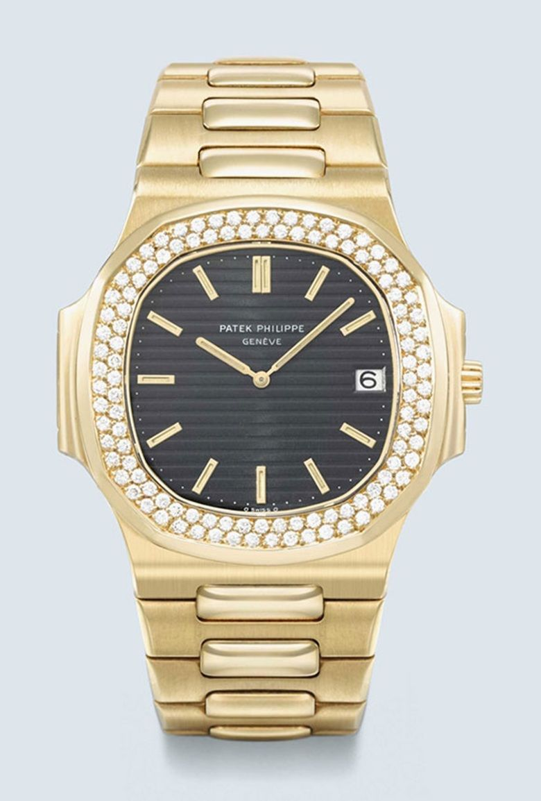 3078e732e01 Patek Philippe. Nautilus reference 37003. A very rare diamond-set version  of the gold  Jumbo  Nautilus model. As confirmed by an extract from the  Patek ...