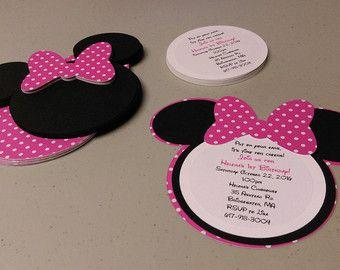 Diy Minnie Mouse Invitations In Light Pink Birthday Invitation