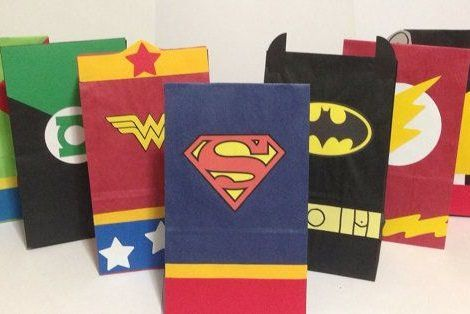 Bolsitas De Cumpleanos De Superheroes Fiestas En 2018 Pinterest