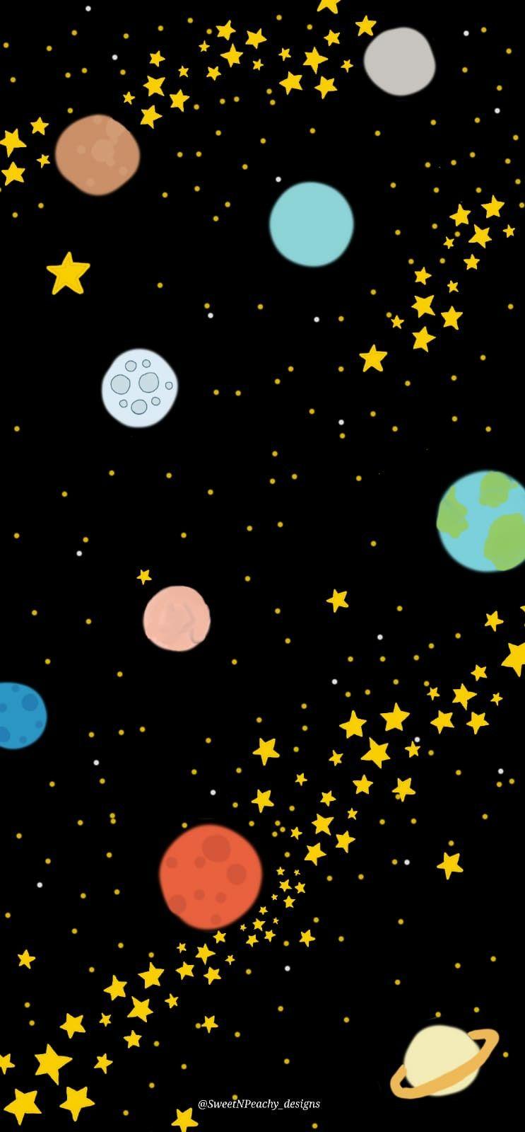 Space Themed Wallpaper Designedbyus Phonewallpaper Space Themed Wallpaper Aesthetic Wallpapers Wallpaper