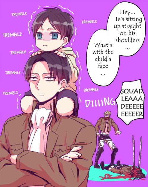 A comic about Eren who turned into a child by one of Hanji's experiments  [Part 2 + Extra]