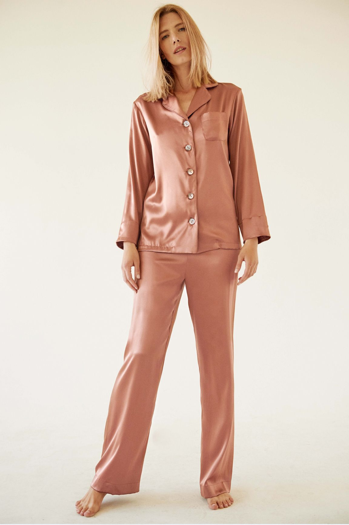 2a02213341ca6 Carrie Blush Silk Pajama with Pants – Sleeper | gift guide | Silk ...