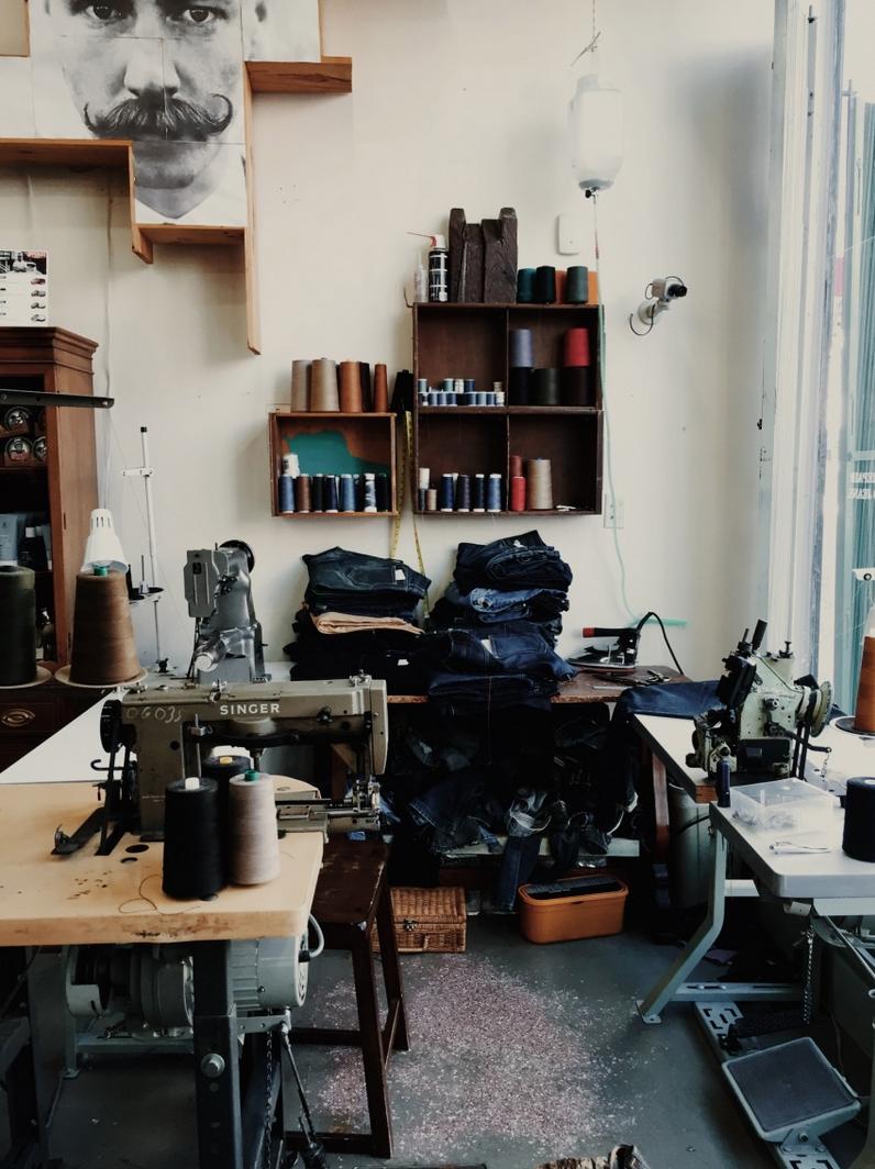 Denim factory Shop interiors
