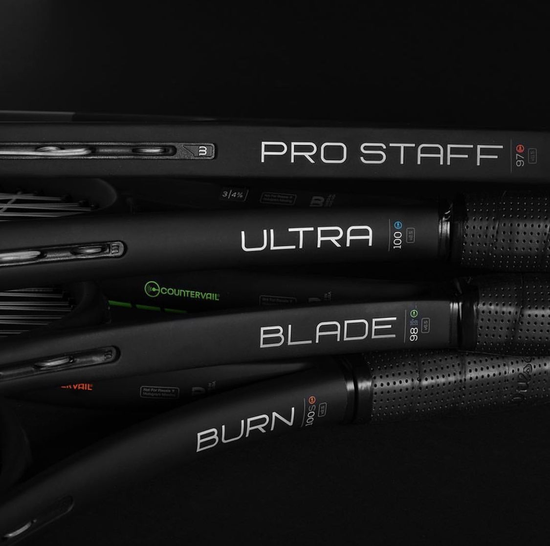 Black Edition a Tennis Rackets from Wilson: Pro Staff, Blade, Ultra