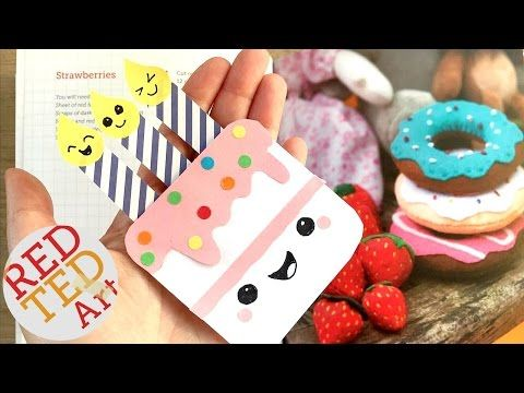 Easy Birthday Cake Bookmark Diy Paper Bookmark Designs Crafts Inexpensive Cute Easy