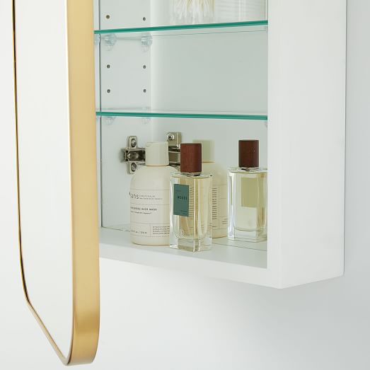 Seamless Medicine Cabinets Antique Brass Glass Shelves In