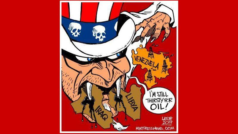 Afbeeldingsresultaat voor us stealing syrian oil cartoon