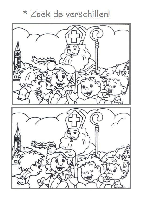 Zoek De Verschillen Sinterklaas Knutselen Sinterklaas Sint Nicolaas