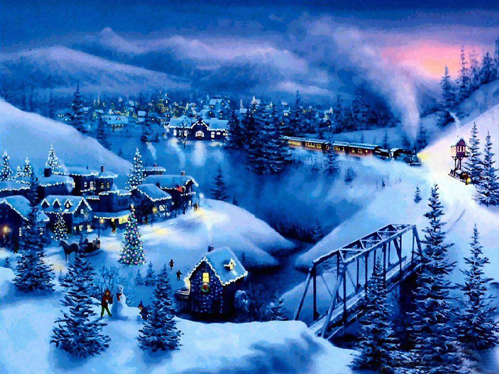 christmas snow scenes wallpaper 2015 - Grasscloth Wallpaper ...