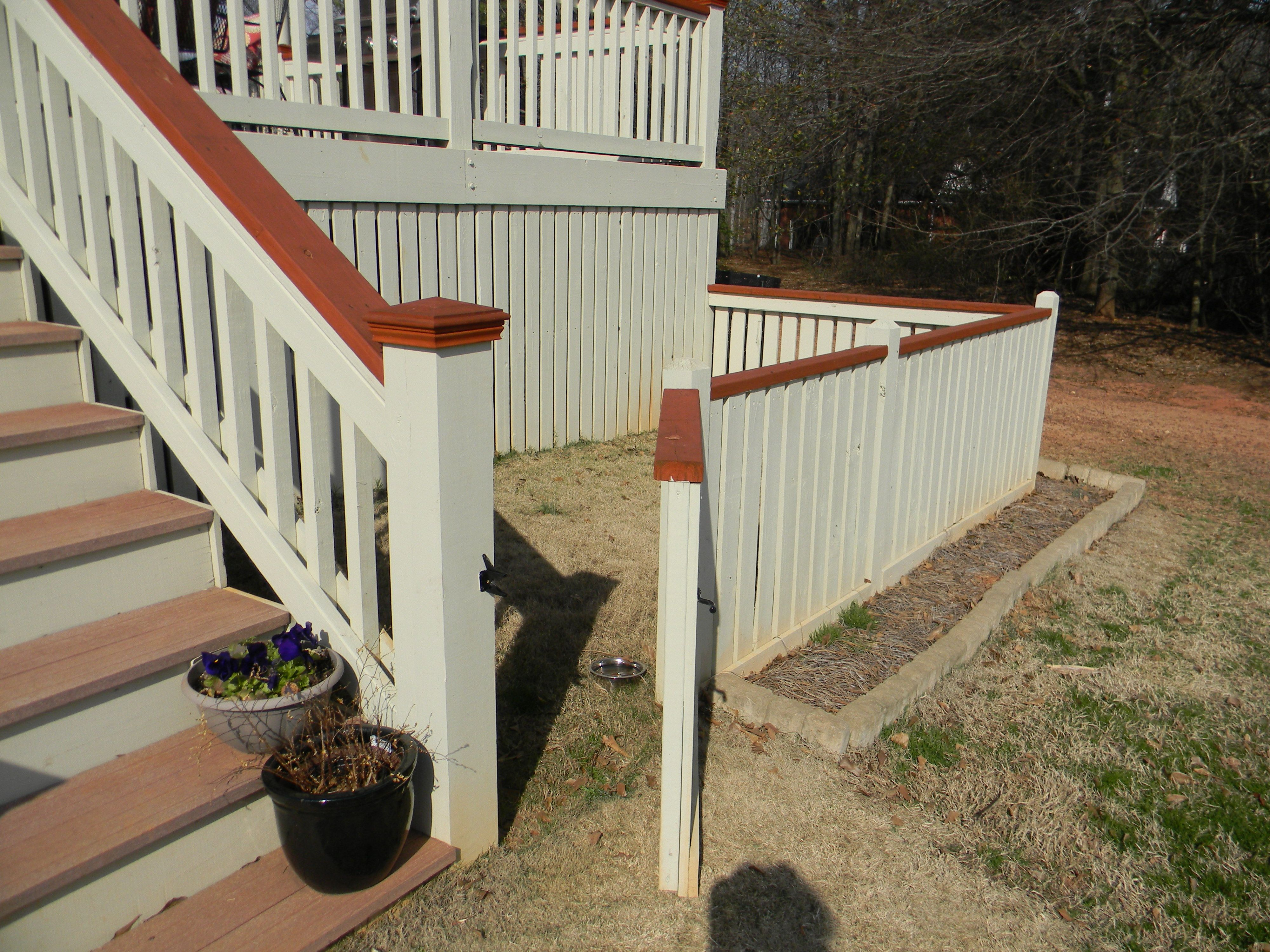 Not Possible To Fence In Your Yard Do This Space Under Deck Too Deck Patio Deck Outdoor