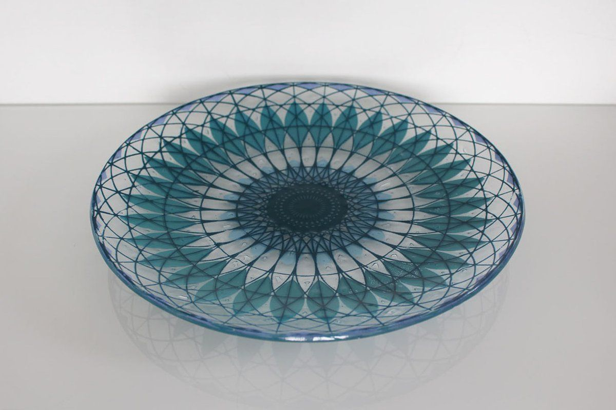 Large printed platter by Helen Tiffany Glass (Studio 10 at Manchester Craft & Design Centre). (@HelenMakesGlass) on Twitter