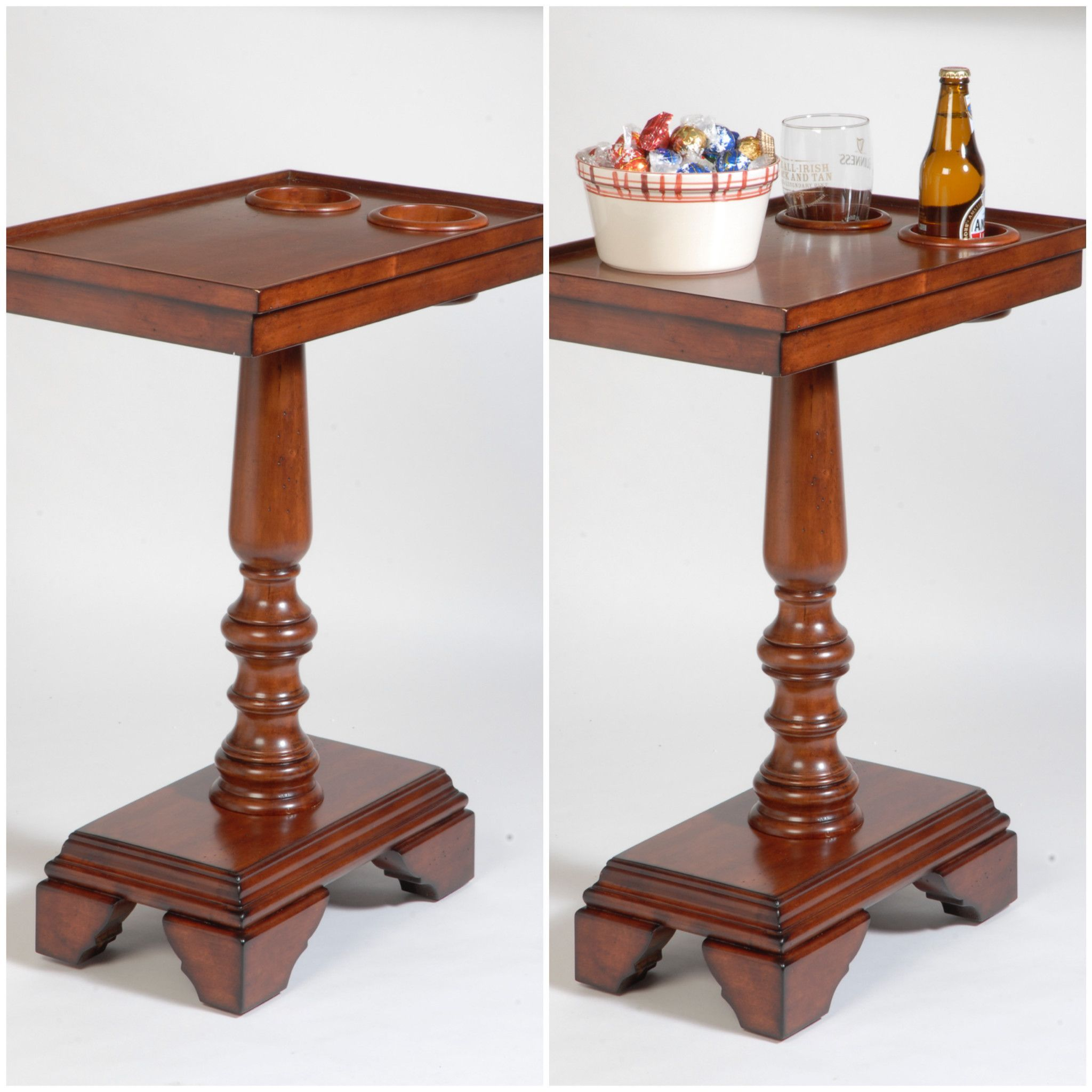 The Perfect End Table Side Or Home Theater With Built In Holders So You Spill Less And Drink More
