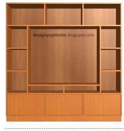 Diseño De Muebles Madera: Mueble de Madera Para TV de 40 Pulgadas ...