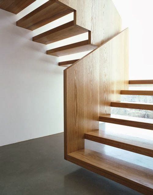 30 exemples d 39 escaliers en bois pour maisons modernes. Black Bedroom Furniture Sets. Home Design Ideas